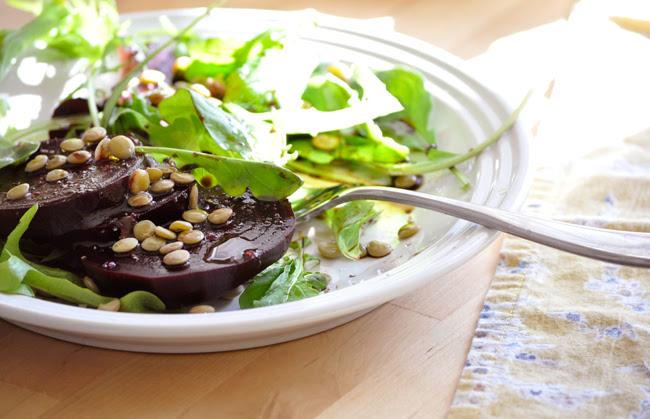 Beet + Lentil Salad