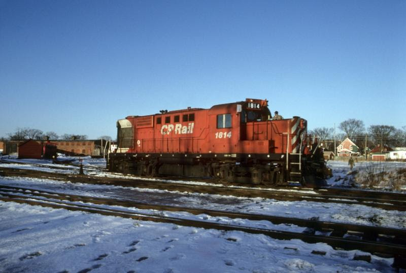 CP 1814 in Fredericton. Slide by Greg Brewer