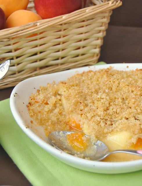 Cous Cous Crumble with Summer Fruit