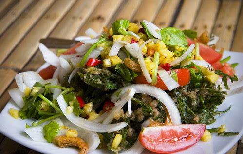 Local salad at Kin Dee Restaurant