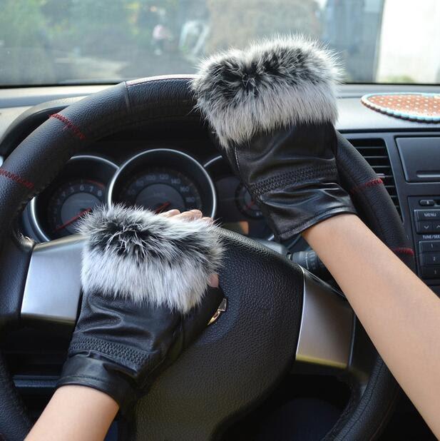 fb7707fcfad Kopen Goedkoop High Fashion Beroemdheden Echte Schapenvacht Leer Echt Bont  Vingerloze Handschoenen Voor Dames AG 22 Prijs   iggy-dcruz