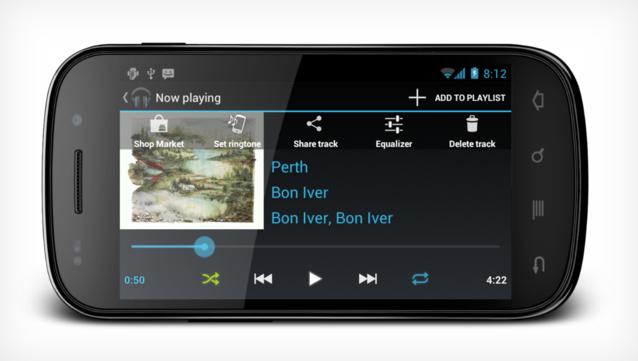 Nova CyanogenMod 9 e seu player de música (Foto: Reprodução/The Verge)