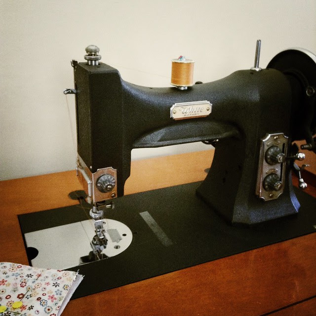 Getting ready to do some sewing on my grandma's machine