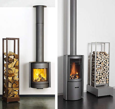 Contemporary Wood Burning Stoves by Stuv - 3-position turning door ...