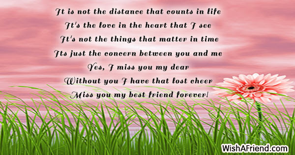 It Is Not The Distance That Missing You Message For Friends