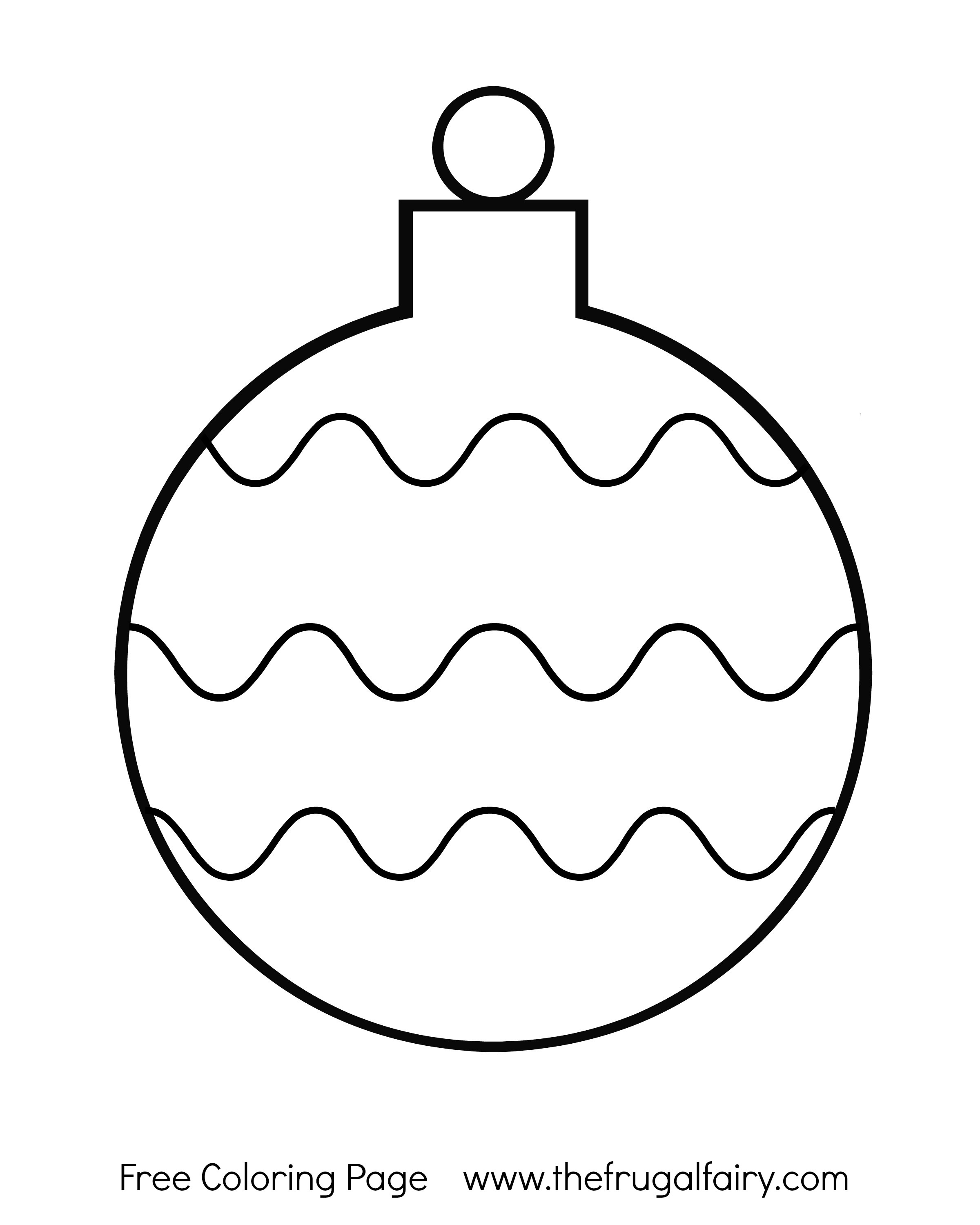 Free Christmas Ornament Coloring Pages at GetColorings.com ...