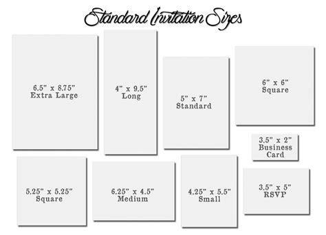 Invitation Card Size Images Standard Wedding Invi And