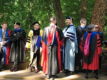 Several faculty members in the Graduate School...