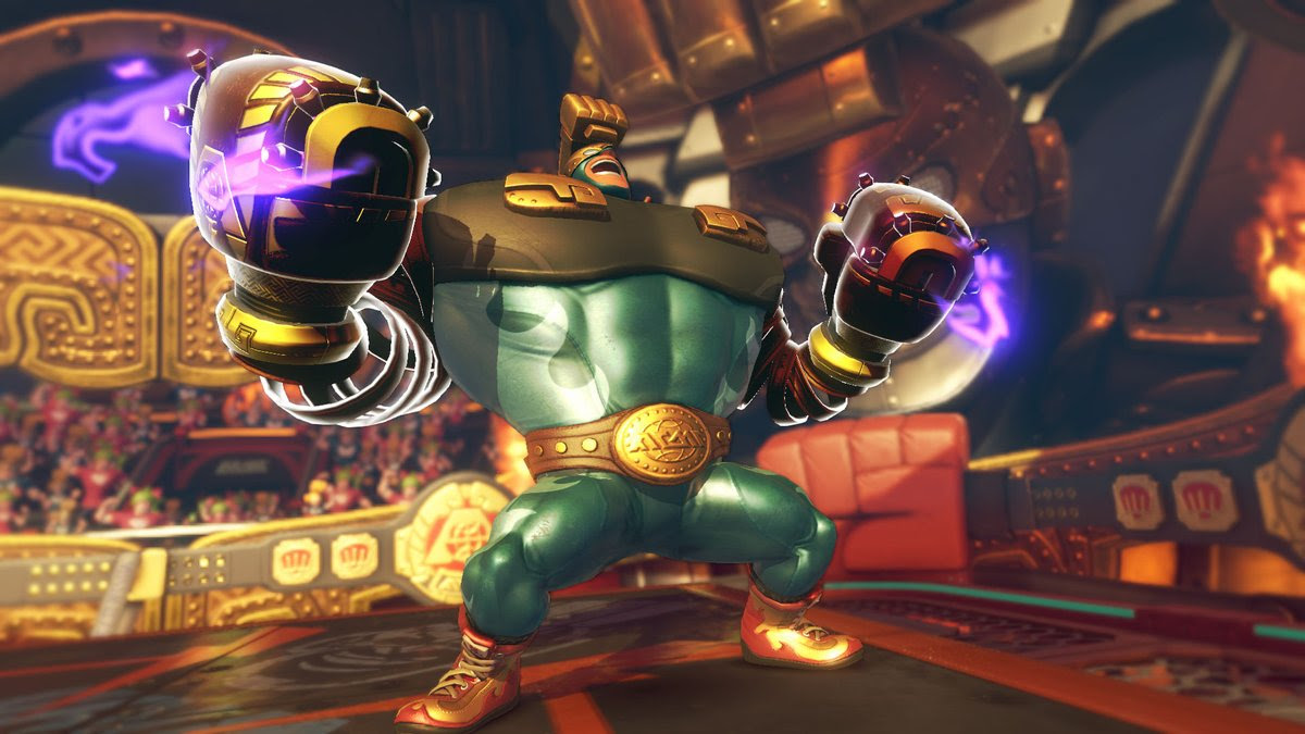 Take a gander at how broken Max Brass is in ARMS screenshot