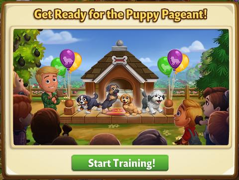 Puppy Pageant - FarmVille 2