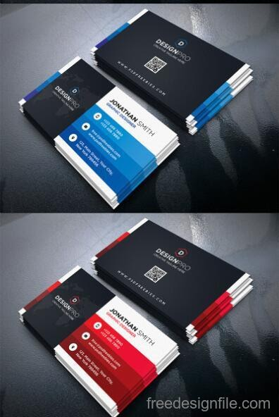 Free Download Template Business Card PSD - Black Styles Modern