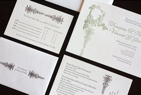 Demi   Vincent's Victorian Vineyard Wedding Invitations