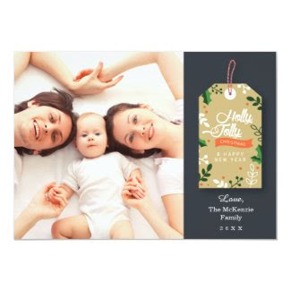 Gift Tag Photo Christmas Card
