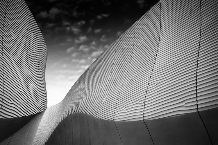 Photographie d'architecture alessio forlano en noir et blanc