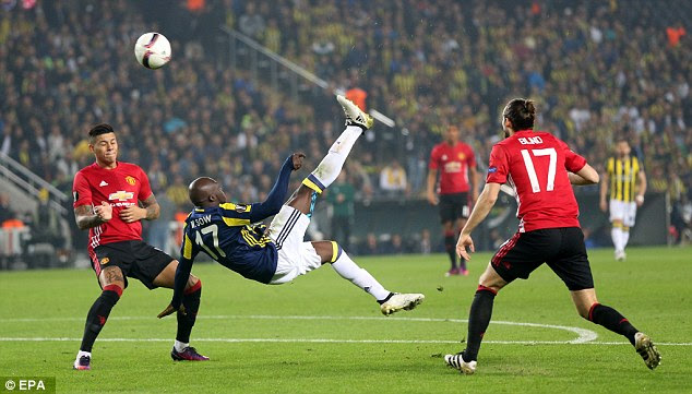 Moussa Sow's brilliant overhead kick saw a shell-shocked United trailing inside two minutes