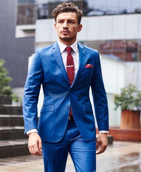 Blue Mens Wedding Suits   Go Suits
