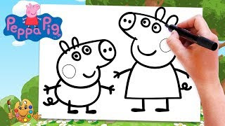 All Clip Of Coloring Pages Tv Peppa Pig Bhclipcom