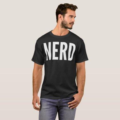 """""""Nerd"""" Typography T-Shirt"""