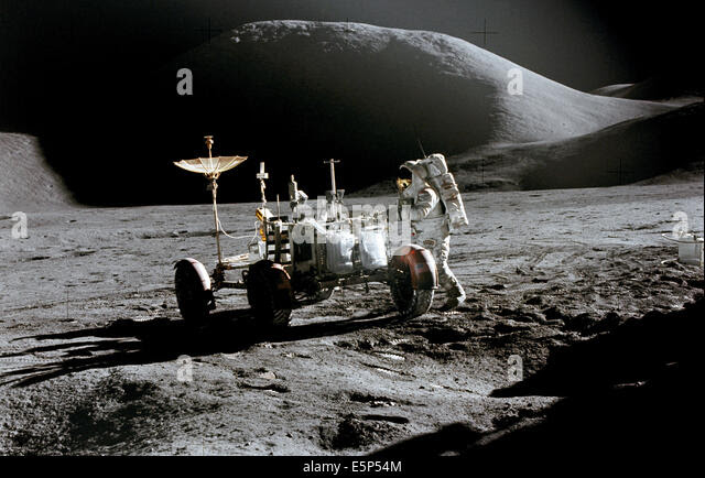 Image result for nasa images james irwin on the moon