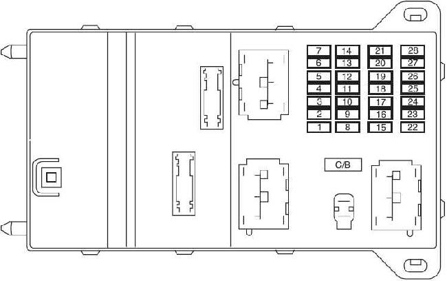 2006 2009 Ford Fusion Fuse Box Diagram