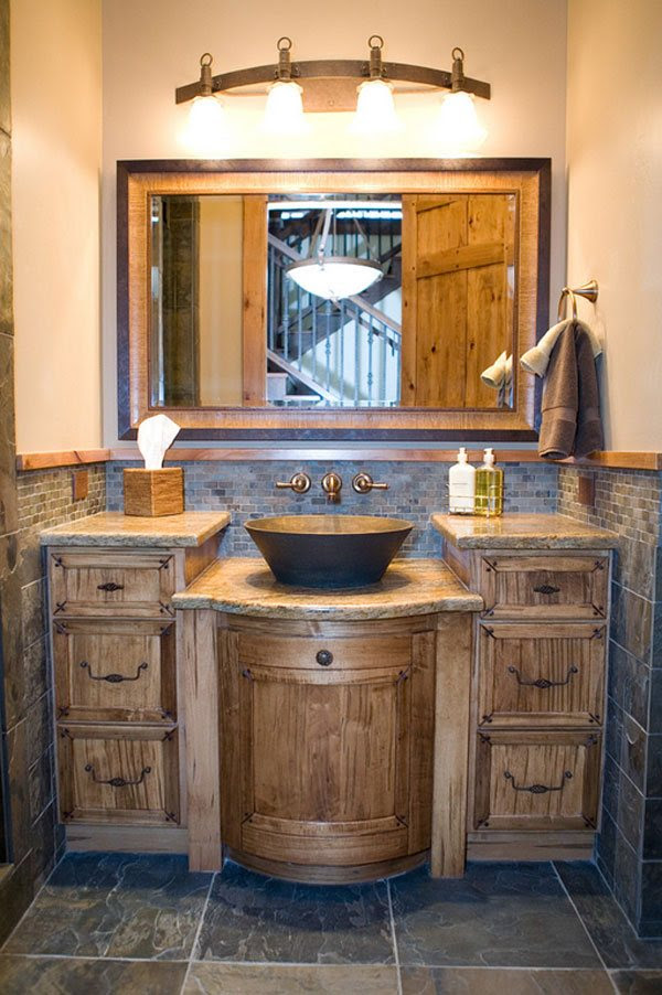 26 Impressive Ideas of Rustic Bathroom Vanity   Home ...