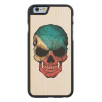 Customizable Filipino Flag Skull Carved® Maple iPhone 6 Slim Case