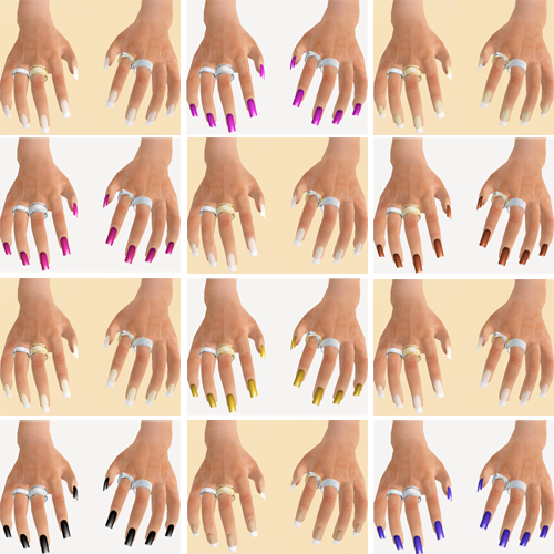 ::Page 3:: Pretty Hands w/ HUD Control - Long 01