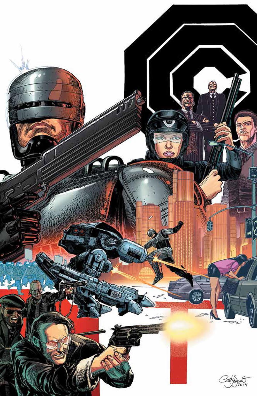 ROBOCOP #1 Cover B by Carlos Magno