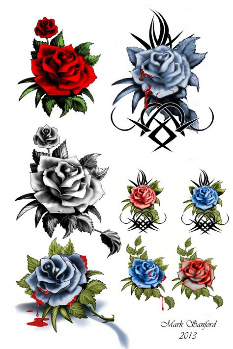 rose tattoos multiimage deviantart