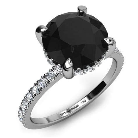 How Much Do Black Diamond Engagement Rings Cost