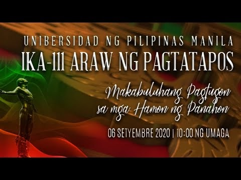 UP Manila Commencement 2020