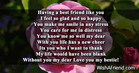 Having You In My Life Poem For Best Friends