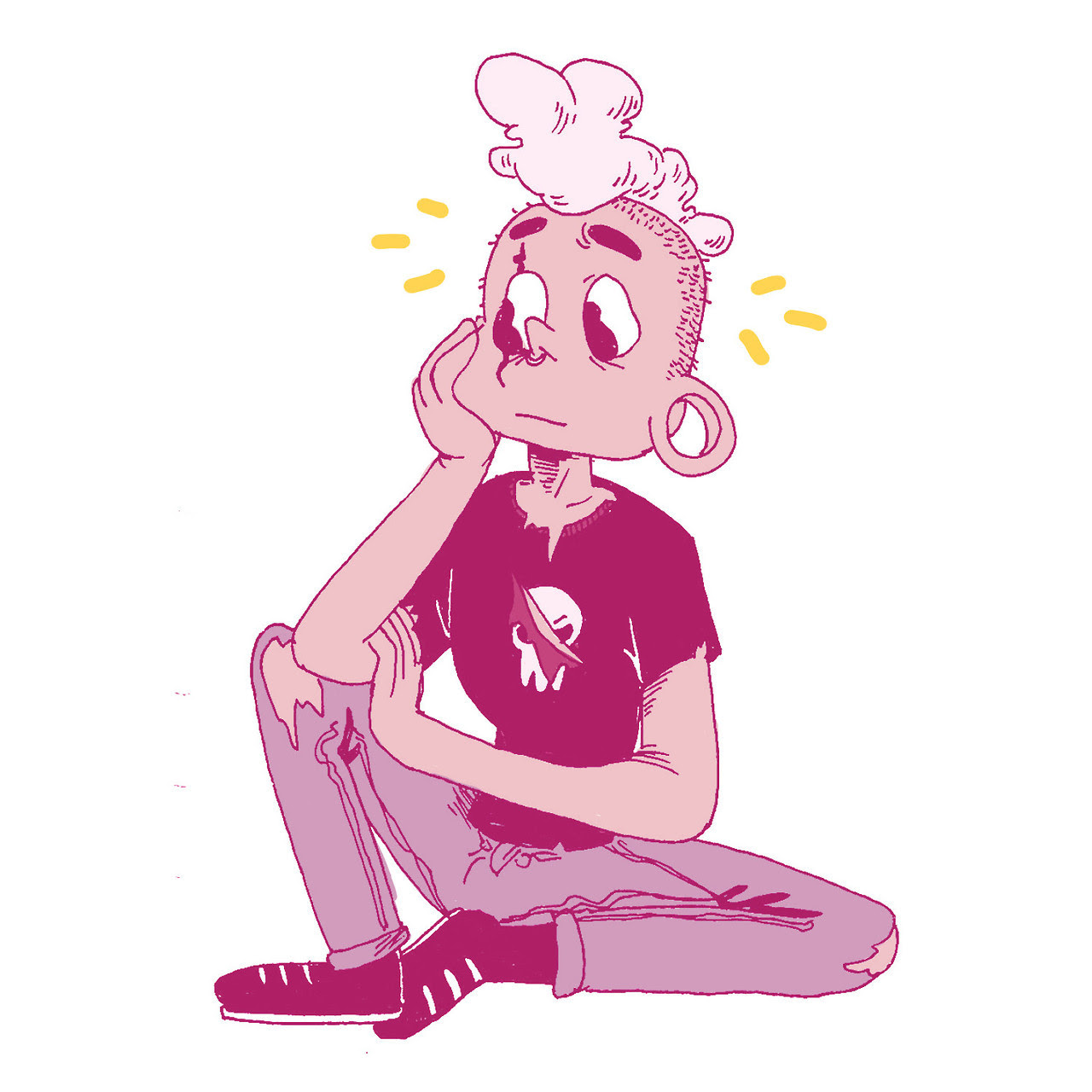 oh boy steven bomb 7 sure was something huh and yes I gave the sweet pinkboy a septum ring because he's Hardcore and Tuff and I love him
