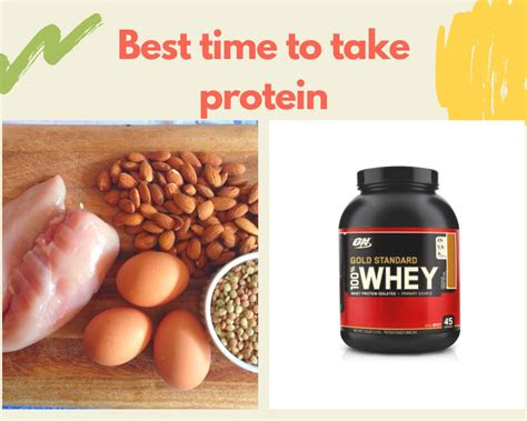 time  drink protein shake    workout