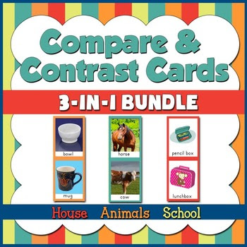 50% OFF! Speech Therapy: Compare and Contrast Bundle - 3 in 1!