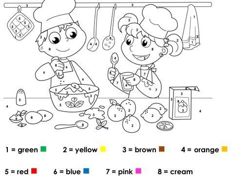 Renkler Boyama çalışması Eğitim Için