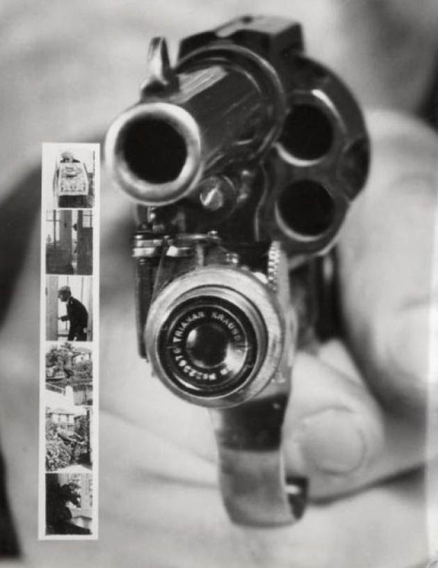 A revolver that takes your photo first invetion