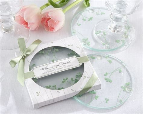"""Whimsical Fields"" Glass Coaster   Wedding Favors & Door"