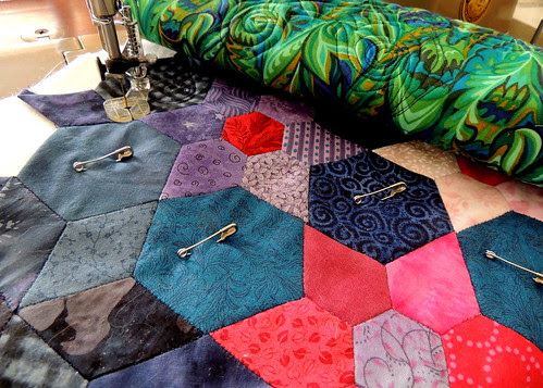 Quilting the Star Flower Tea Cozy