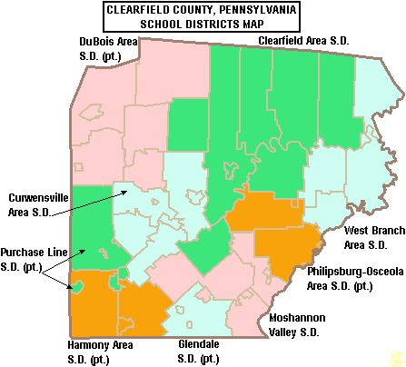 map of pennsylvania school districts