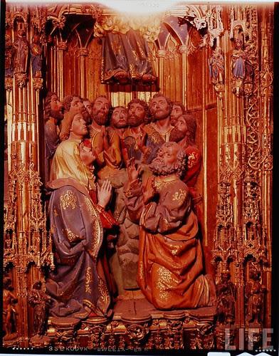 Detalle del altar mayor de la Catedral de Toledo en 1963. Fotografía de Dmitri Kessel. Revista Life (12)