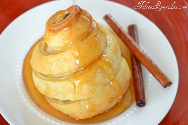 Poached Pears Wrapped in Puff Pastry