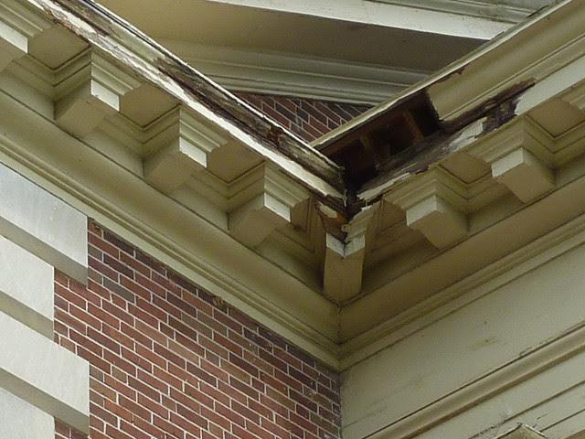 P1080102-2012-05-08--Decatur-1st-Baptist-by-Lewis-Crook-classic-Portico-Repair-1948-51-damage-detail-2