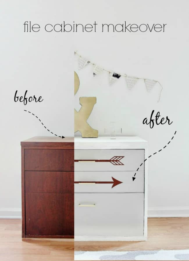 file cabinet makeover before and after