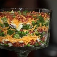 Seven Layer Salad Recipe for Christmas