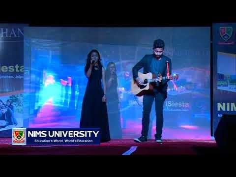Singing Song in Freshers Party | Nims University Jaipur | Galliyan | Hale Dil