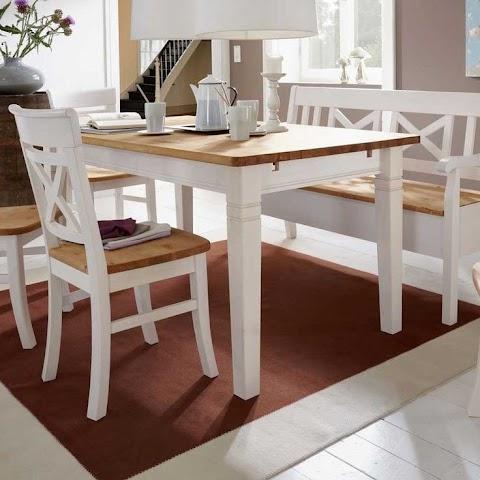 Küchentisch Landhausstil Weiß