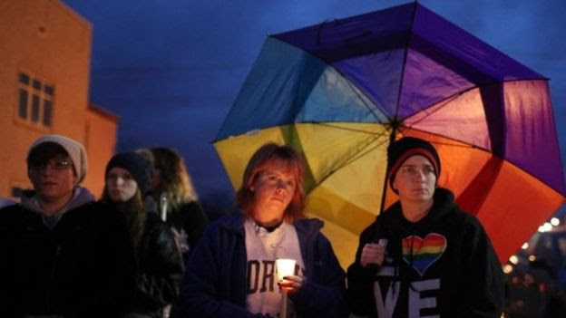Vigils were held after Ms Alcorn committed suicide in December