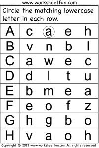 Preschool Worksheets - Lowercase and Small Letters | Preschool ...