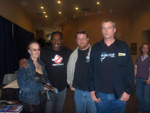 My wife, Ernie Hudson, me, dognose from the Shack, and some miscellaneous person in-frame
